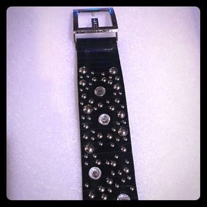 Guess Rhinestone Studded Belt